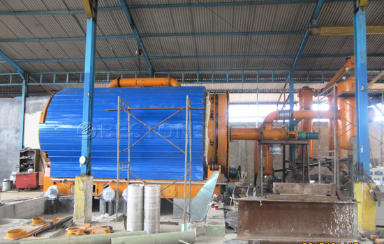 Beston Tyre to Oil Pyrolysis Plant with Excellent Design